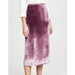 Vince Panne Velvet Midi Skirt Amarena Mauve Pink